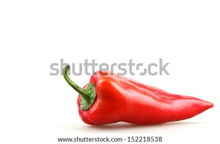 paprika isolated on white - stock photo