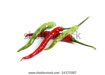 Paprika isolated on white backgrounds