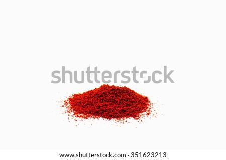 Paprika powder on white background