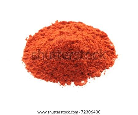paprika powder , spice - stock photo