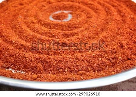 Paprika powder spices - stock photo