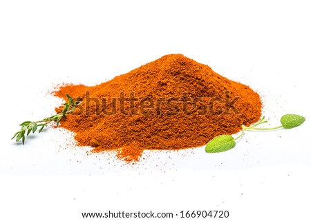 Paprika with herbs