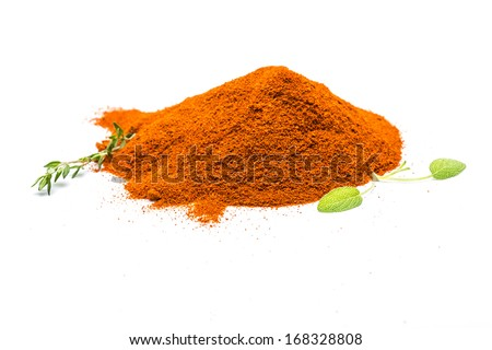 Paprika with herbs - stock photo