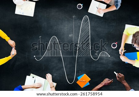 Parabola Curve Graph Science Mathematics Concept - stock photo