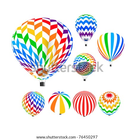 Parachute set, - stock photo