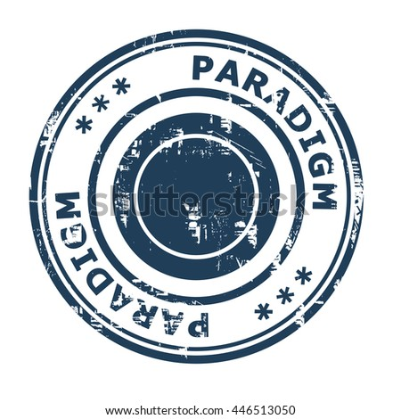 Paradigm business concept rubber stamp isolated on a white background. - stock photo