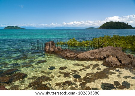 paradise beach - stock photo