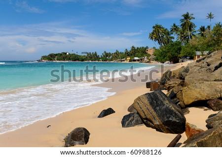 paradise beach - stock photo
