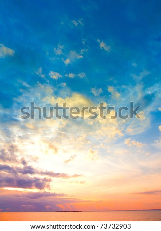 Paradise Beach Cloudscape - stock photo