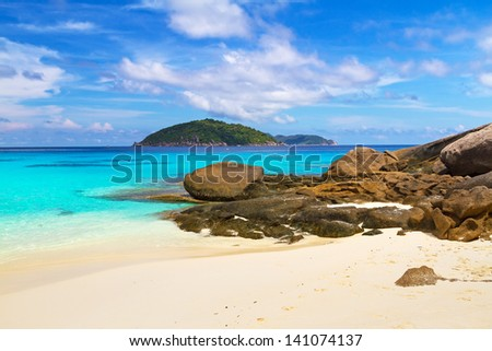 Paradise beach of Similan islands, Thailand