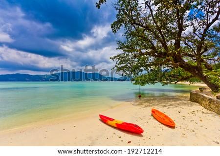paradise beach Patong,Phuket Thailand - stock photo