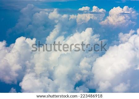 Paradise Daylight Flying  - stock photo