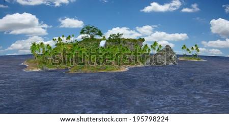 Paradise Island - stock photo