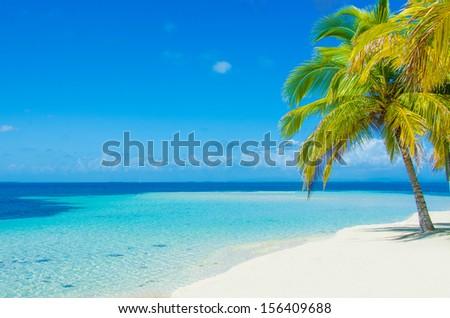 Paradise Island beach - stock photo