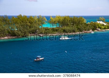 Paradise Island. Nassau. Bahamas. - stock photo