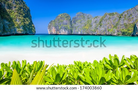 paradise island phi-phi - stock photo