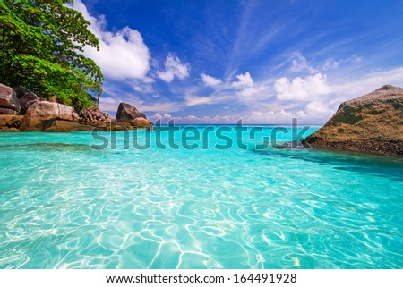 Paradise lagoon of Similan islands in Thailand  - stock photo