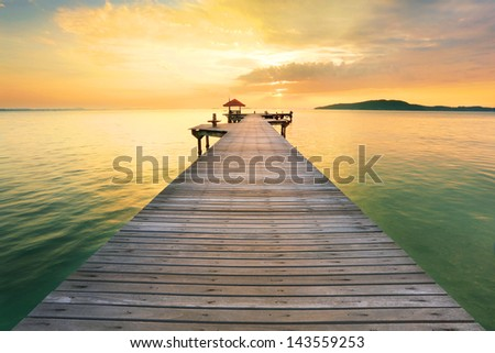 Paradise Landscape Sea while sunrise