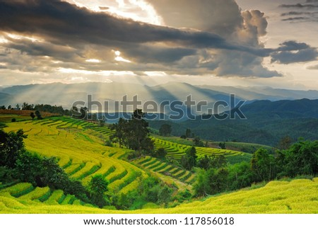 Paradise on the earth in Chiangmai Thailand - stock photo