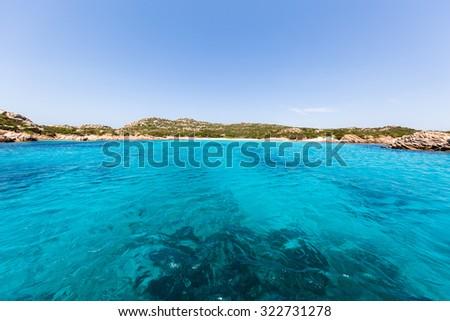 Paradise sailing ocean view - stock photo
