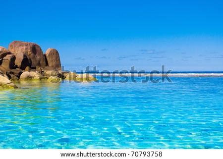 Paradise Season Blues - stock photo