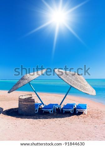Paradise under Sun Resort Site - stock photo
