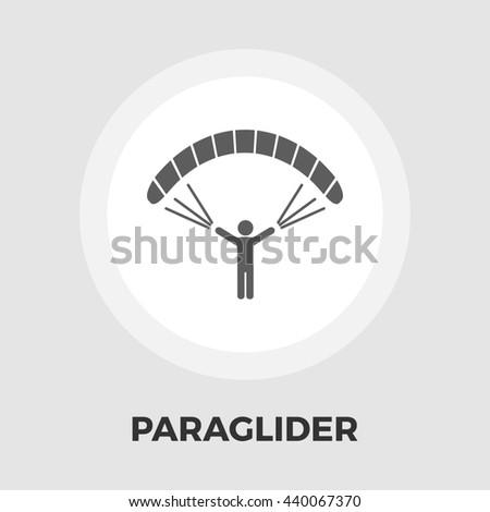 Paraglider icon  - stock photo