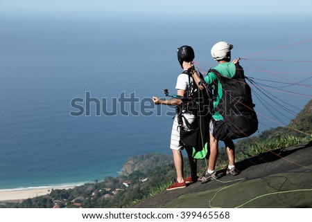 Paragliding - Rio de Janeiro / Paragliding - Rio de Janeiro / Paragliding - Rio de Janeiro - stock photo