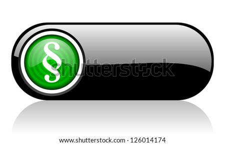 paragraph black and green web icon on white background - stock photo