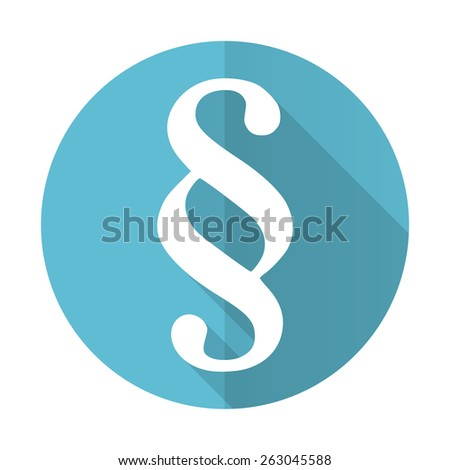 paragraph blue flat icon law sign  - stock photo