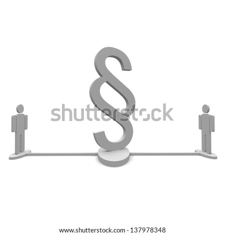 Paragraph people - stock photo