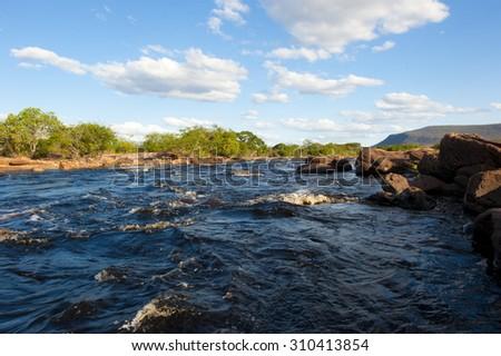 Paraguacu River, in Chapada Diamantina, Brazil - stock photo