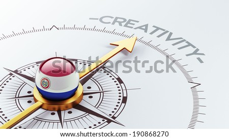Paraguay High Resolution Creativity Concept - stock photo