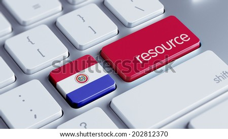 Paraguay High Resolution Resource Concept - stock photo