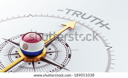 Paraguay High Resolution Truth Concept - stock photo
