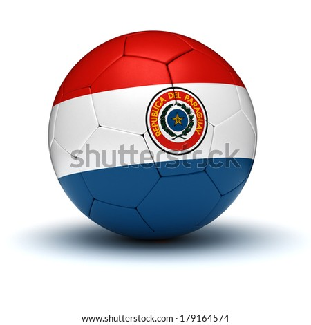 Paraguayan Football (isolated with clipping path)