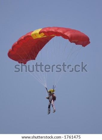 Parajumper - stock photo