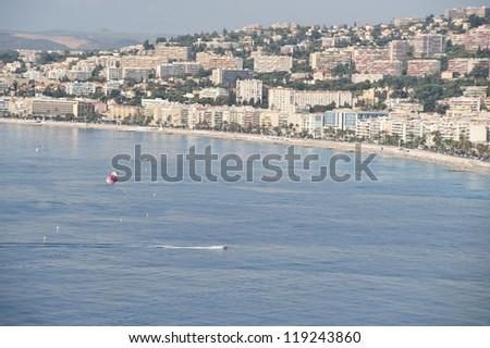 Parasailing Adventure At Nice - stock photo