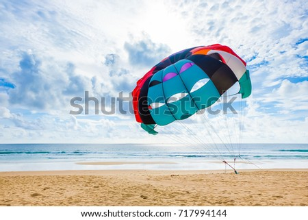Parasailing on the beach