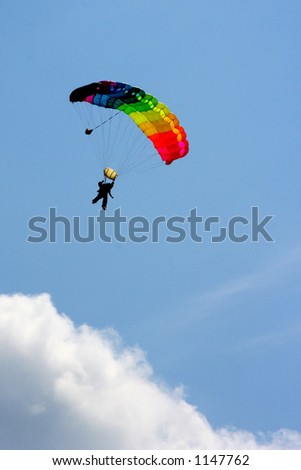paratrooper in the air