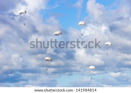 Paratroopers - stock photo
