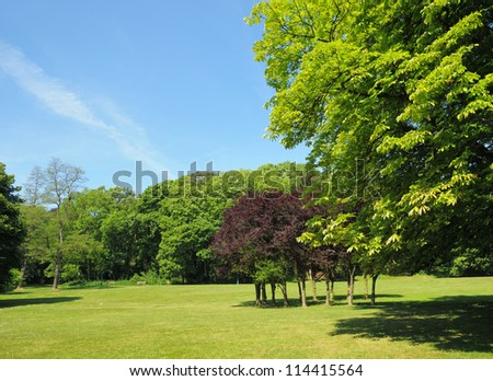 Parc in Brussels, Belgium in clear day - stock photo