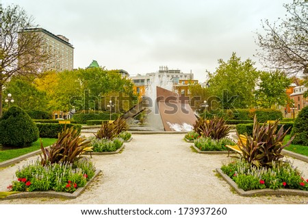 Parc in front of Quebec City Railway Station (Gare du Palais) in Quebec city, Canada