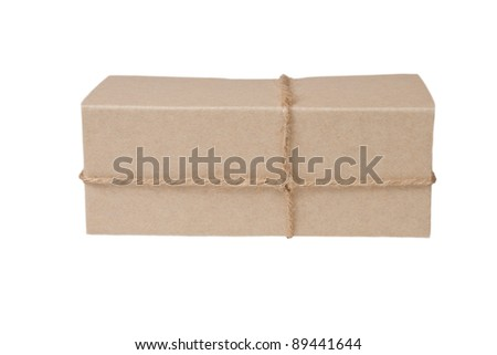 parcel box isolated on white background