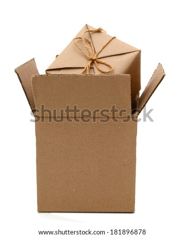 Parcel in carton box packing