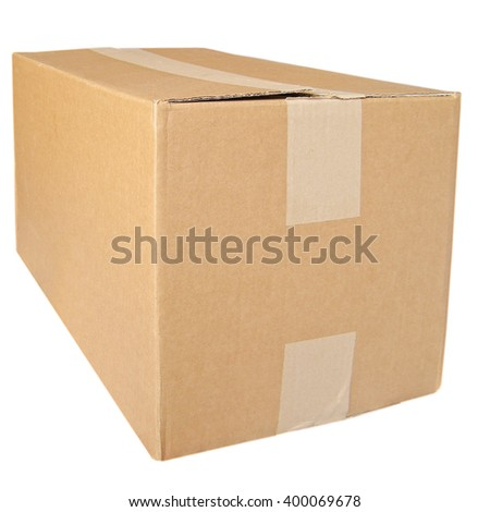 Parcel packet isolated over a white background