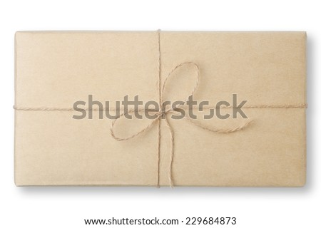 parcel wrapped packaged box