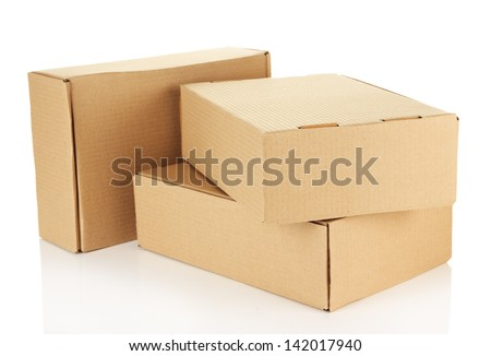 Parcels boxes, isolated on white