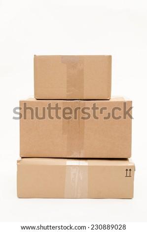 parcels (vertical) - stock photo