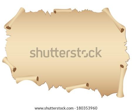 Parchment. - stock photo